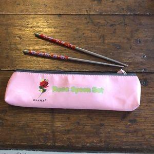 Japanese rose chopsticks